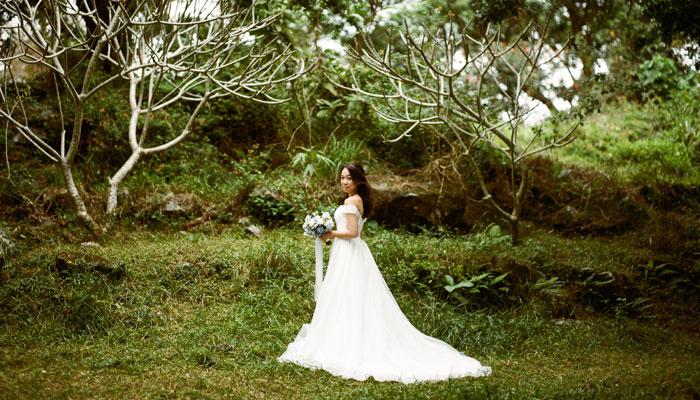 森系自然風 婚紗從簡