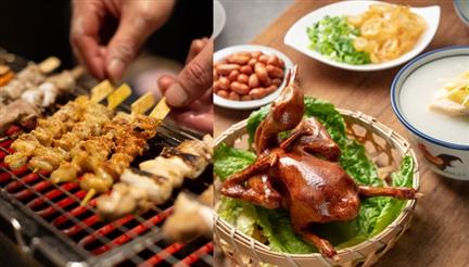 沙田食自助餐任食乳鴿雞粥爐端燒