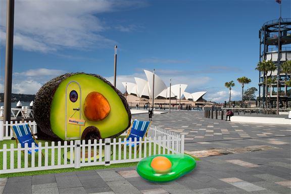 悉尼牛油果小屋設計很有心思, 連果核都有。