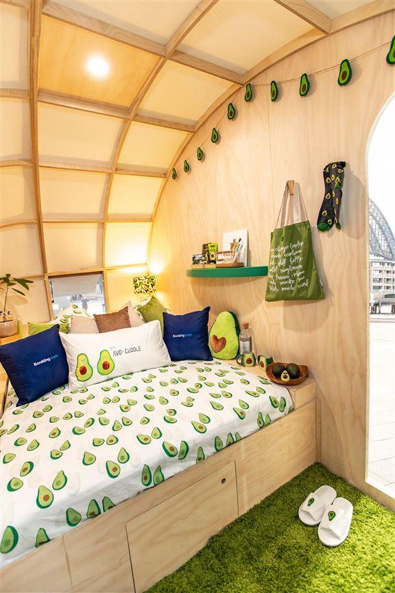 悉尼牛油果小屋內布置都以牛油果為主題。