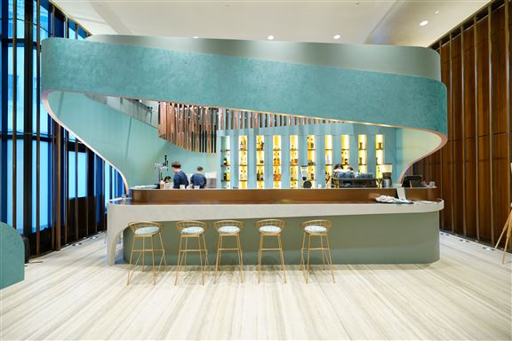 Appendix Coffee & Bar的室內設計混雜時尚和復古,別具特色。