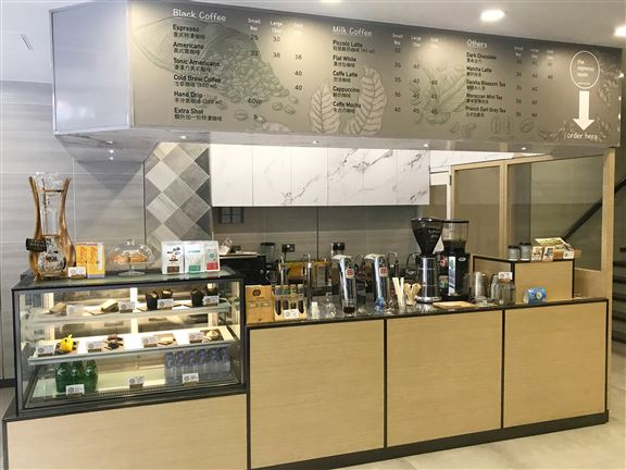 The Espresso Room附近一帶上班族帶來提神美味咖啡。