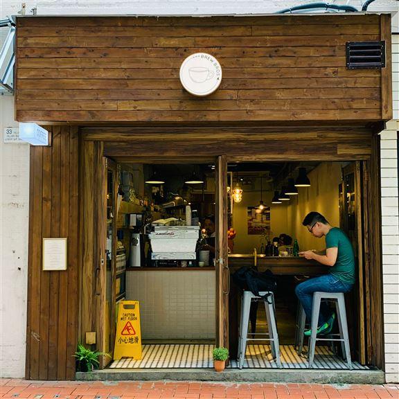 咖啡店室內設計很有特色。
