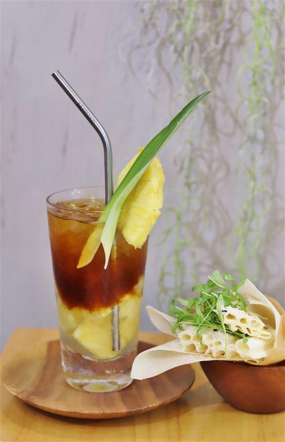 「啡」常菠蘿冰是這家咖啡店的人氣飲品。