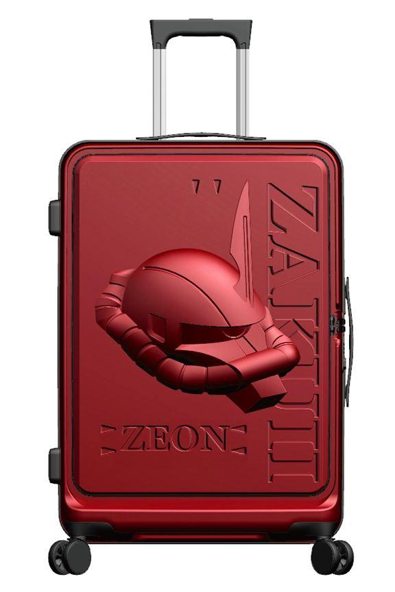 Zaku II行李箱採用馬沙專用的紅色,搶眼又忠於原著。