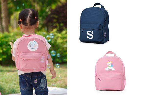 迷你背囊共有5色,並有多款可愛圖案設計選擇,肩帶長短調整,適合幼童出外使用。