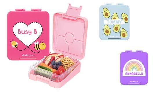 迷你便當盒輕巧便攜,一盒4格及防漏膠邊,用作盛載零食都可以。