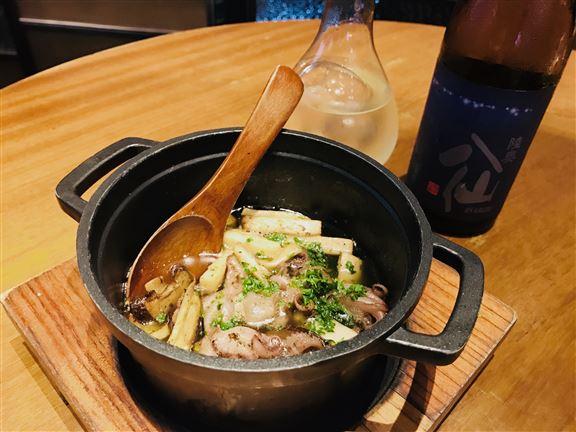 夏日之八爪魚配野菌及陸奧八仙漁火特別純米酒