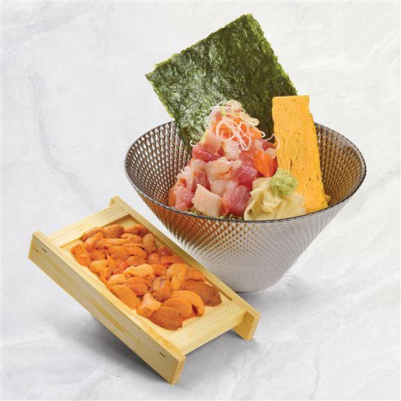 海膽刺身海鮮丼