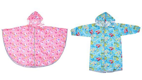 SANRIO 小童長袖雨衣/小童披肩雨衣