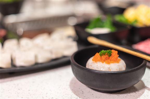 蟹子蝦滑每天新鮮製作。