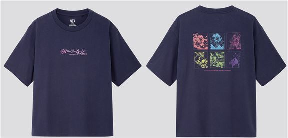 此UNIQLO x《美少女戰士》Tee正面印有美少女戰士的標誌,背面則展現了水手服戰士和露娜一同作戰的情境。