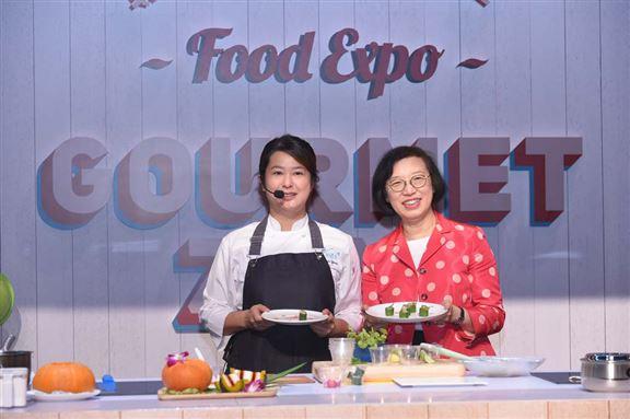 大會邀請了17位星級名廚包括人氣飲食節目主持人分享烹調心得。圖為去年的活動情況。
