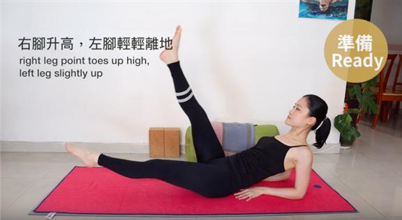 動作 (1) - 雙肘落地 交叉換腳