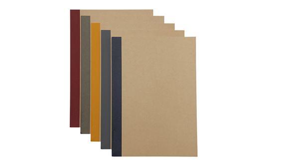 植林木紙横間筆記簿5本裝