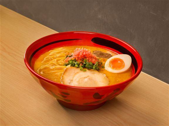 純蝦湯鹽味粗麵是香港限定口味。