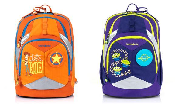 書包以《反斗奇兵》人氣主角胡迪和三眼仔為主題,並採用橙色和紫色為設計,小朋友揹住返學,搶眼醒目。