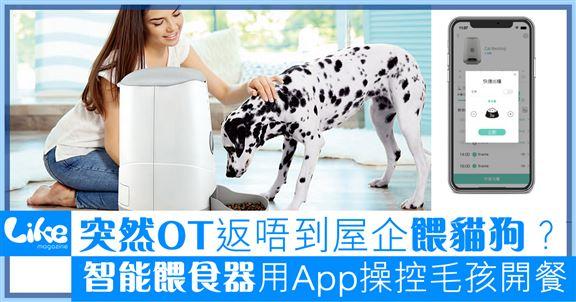 智能餵食器搭載雲端              手機App遠程餵飼毛孩