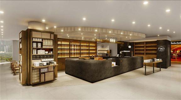 新店以火山岩為主調,營造舒適自然感。