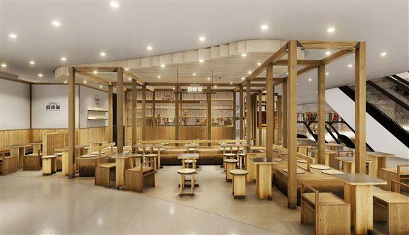 半開放式用餐區,甚有韓式古風feel。