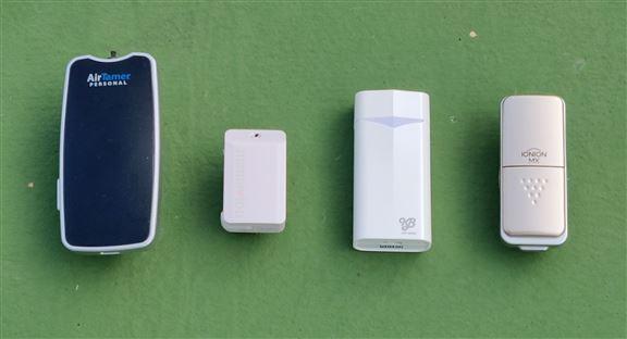 4款都是人氣熱賣的個人便攜式空氣清新機。