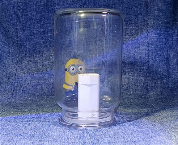 測試未開始, 瓶子內未注煙是這樣的。