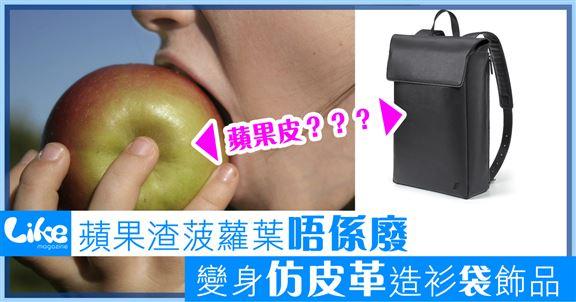 蘋果渣菠蘿葉唔係廢                   變身仿皮革造衫袋飾品