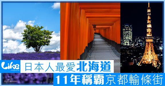 日本人最愛北海道        11年稱霸京都府輸條街