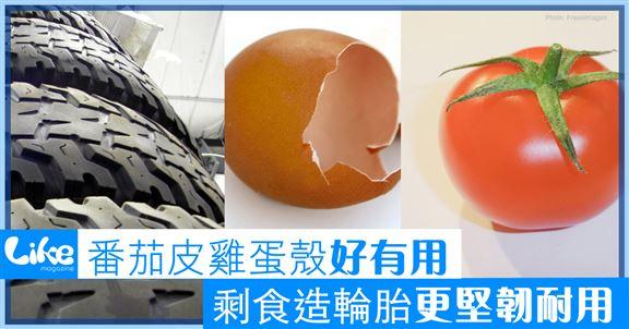 番茄皮雞蛋殼好有用                   剩食造輪胎更堅韌耐用