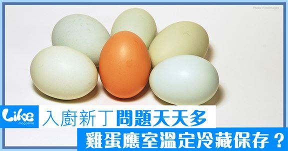 入廚新丁問題天天多   雞蛋室溫定冷藏保存?