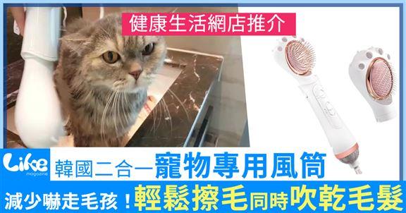 韓國二合一寵物專用風筒 輕鬆擦毛同時吹乾毛髮 | 網購 | 寵物用品 | 寵物造型  | 健康生活網店