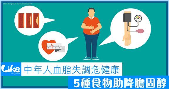 中年人血脂失調危健康│5種食物助降膽固醇