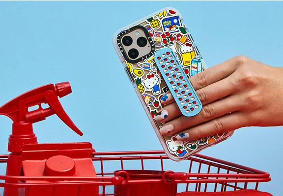 第一款是膠布造型的 2 合 1 手機支架