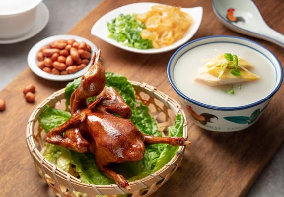 來到沙田,怎可少品嚐一下弛名的乳鴿和雞粥?