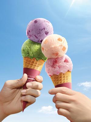 Haagen-Dazs再度推出雙球雪糕買1送1優惠。
