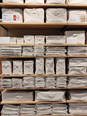 聚酯棉麻儲物籃有不同尺寸大小,迎合家居不同需要。