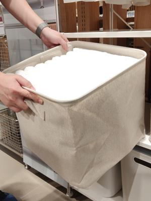 聚酯棉麻儲物籃可用作整齊存放衣物、毛巾、被單等。
