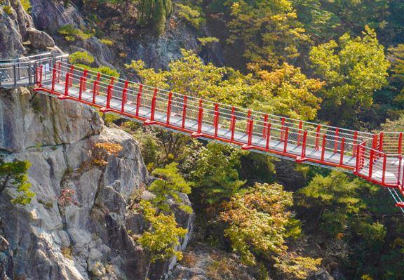 牛頭山Y字型懸索吊橋