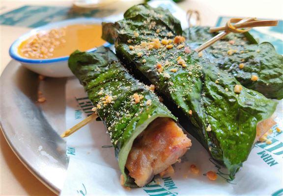 烤蔞葉豬肉卷 $38