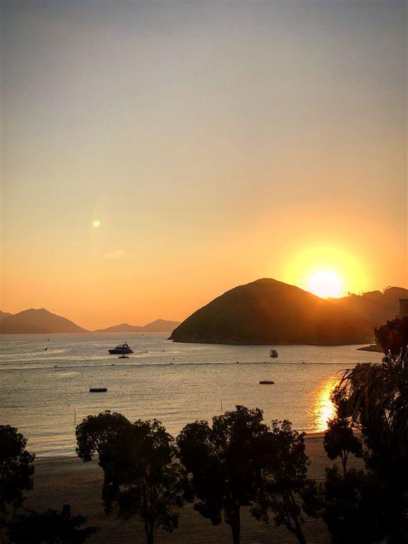 淺水灣日落美景,呢個位觀賞無得輸。