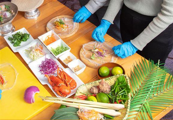 假日入住可額外加錢參加泰菜體驗班。