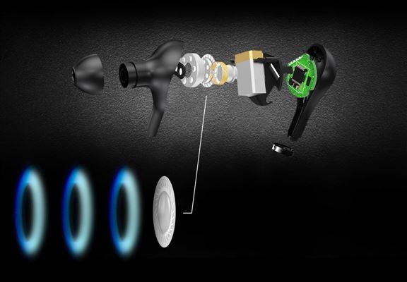 BONNAIRE MX-930真無線藍牙耳機選用先進精準振膜,配合鈦合金動圈單元。