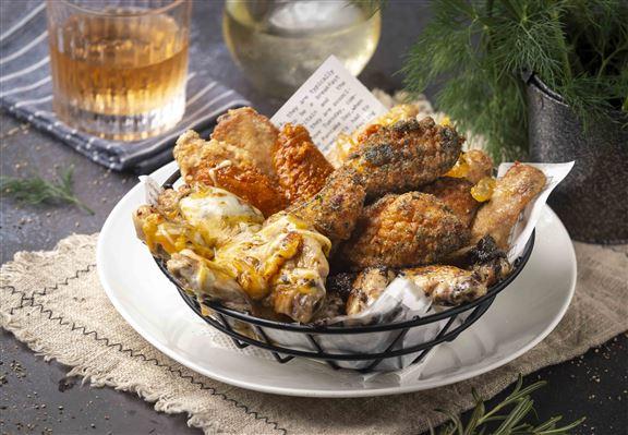 90分鐘雞翼放題,任食6款創口味雞翼。