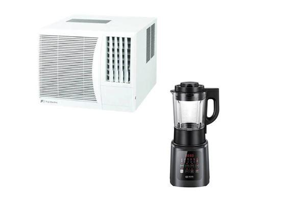 FUJI ELECTRIC 窗口式冷氣機 (型號: RKB07FPTN 3/4匹) + SUNPENTOWN 智能破壁機 (型號: SBL178 1.75L)