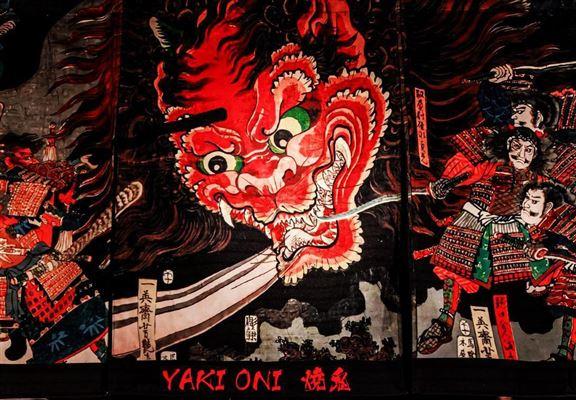 餐廳以日本民間傳說嘅妖怪夜間大遊行場面作布置,營造神秘氣氛。