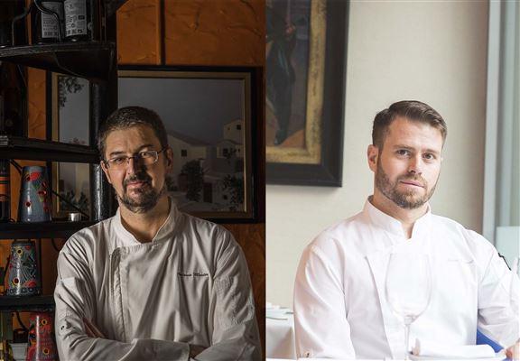Ole西班牙餐廳西班牙籍總廚Antonio Martin (左)和 Jesus Pascual