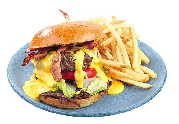 Dirty Burger賣相令人好想不顧一切一啖咬落去。$130