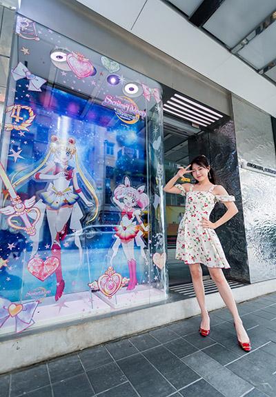 2D版Super Sailor Moon及Super Sailor Chibi Moon駐足場內,以百變可愛造型與粉絲打聲招呼!