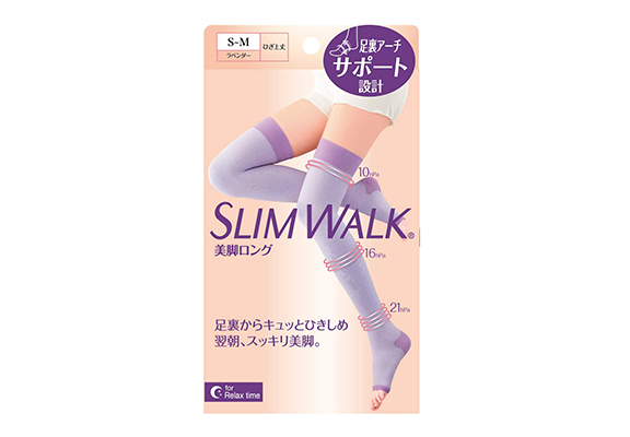 SLIM WALK壓力襪「階段壓力睡眠長襪」 $168