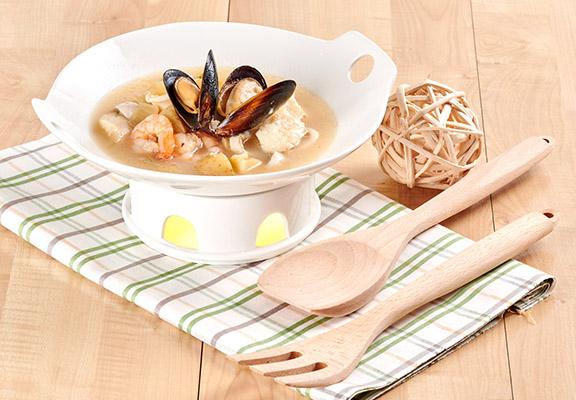法式海鮮煲配自家製魚清湯